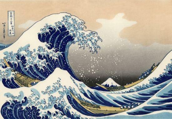 La gran ola de Kanagawa por Katsushika Hokusai