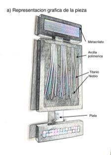 Boceto broche Arco Iris por Pedro Sequeros