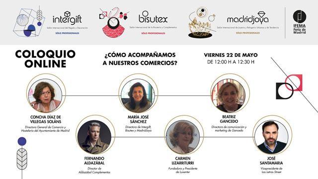 Cómo ayudamos a nuestros comercios - Coloquio online organizado por MadridJoya