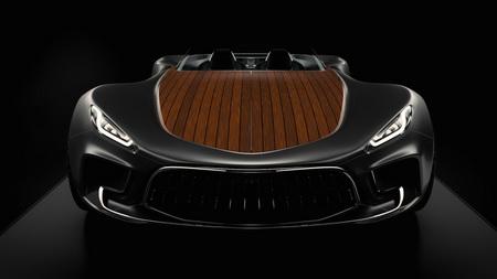 Компания Gray Design представила электрический суперкар с деревянным кузовом