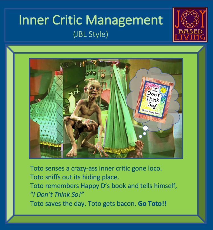 Toto Gollum - I Dont Think So Book Inner Critic Management