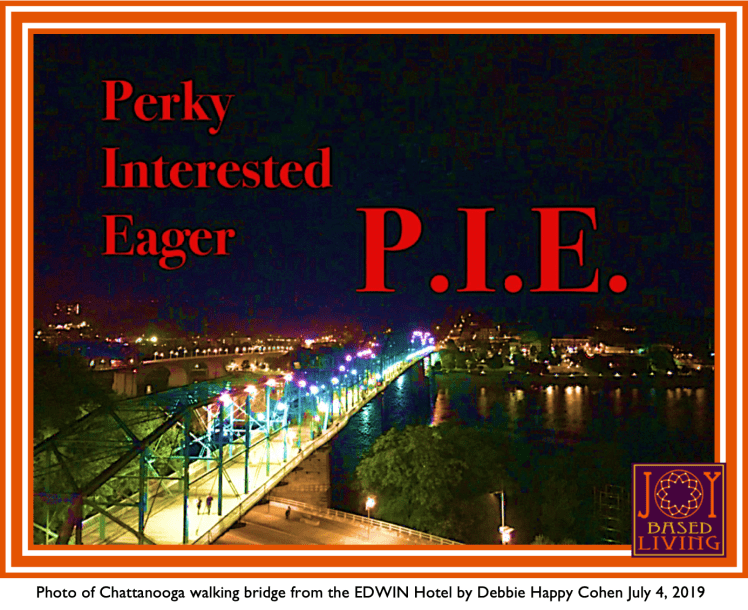 perky eager interested pie chattanooga walking bridge debbie happy cohen joy based living 2019 july 4
