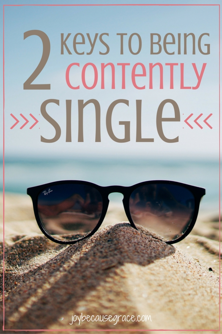 Being contently single is really hard! It seems like everyone expects you to be in a relationship. Let's look at two keys to being contently single.