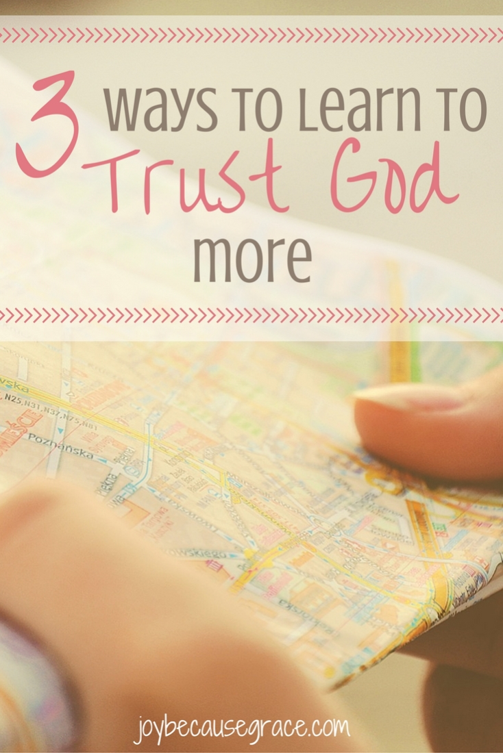 Trusting God with our futures is really really hard, especially when things don't go as we planned. I want to learn to trust God even when it's hard.