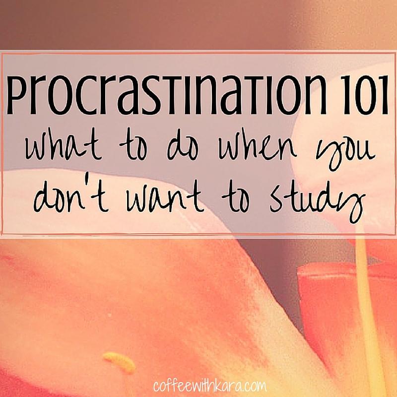 Procrastination 101