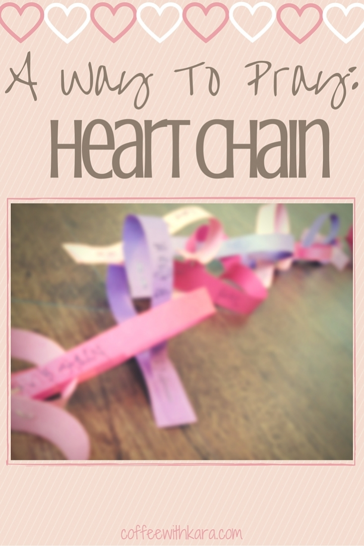 I love finding fun and creative ways to pray! Making a paper heart chain is a great way to remember people for whom you want to pray.