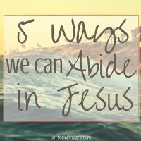 Abide in Jesus fb