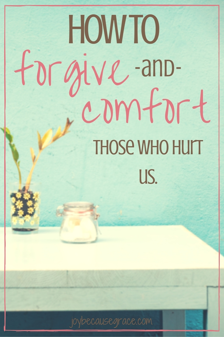 We are called by God to forgive and comfort others, but our enemy wants us to feed on our hurt and pain because then we won't be nearly as effective for God.