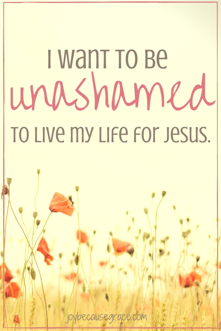 I don't want to care what others think of me. I want to show them the love of Christ. I want to be unashamed of the Gospel, fully living for Him.