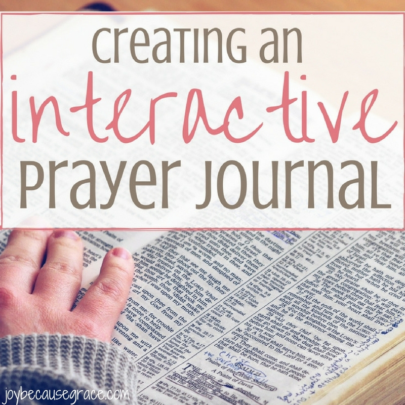 How To Create an Interactive Prayer Journal