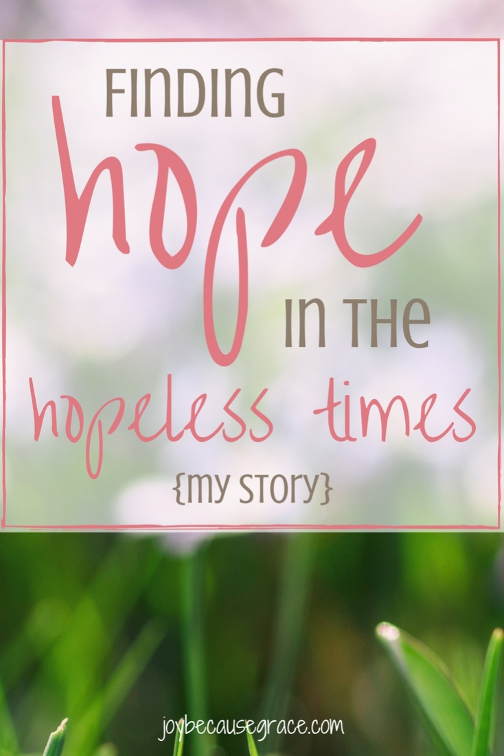 How one girl found hope in the hopeless time.