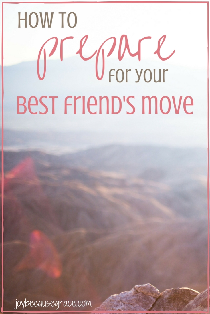 It can be utterly gut-wrenching to have a best friend move away, so here are 7 tips to help you prepare for your best friend's move.