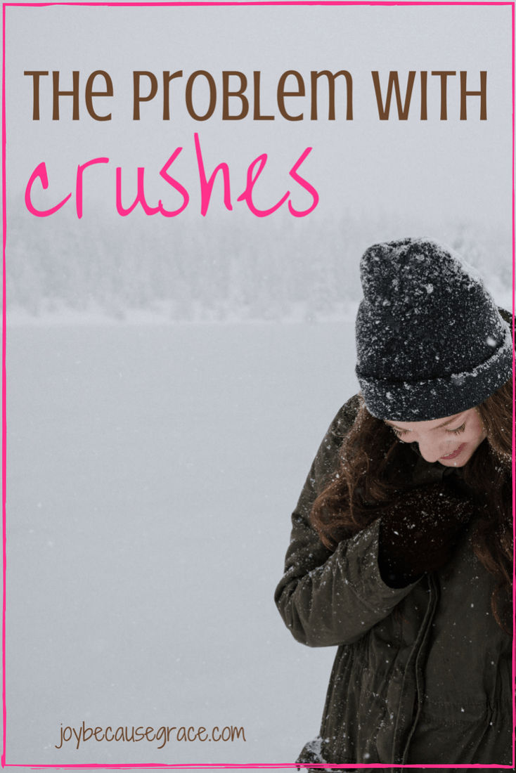 The main problem with crushes, is that we have a crush on a guy based on characteristics that we've imagined him to have, instead of reality.