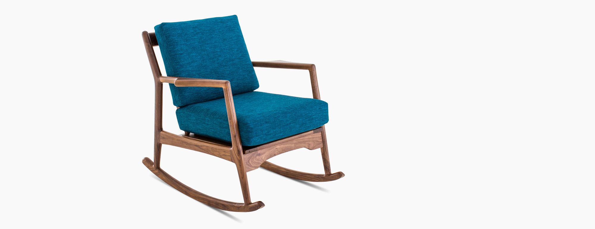 Teal Rocking Chair Collins Rocking Chair Joybird