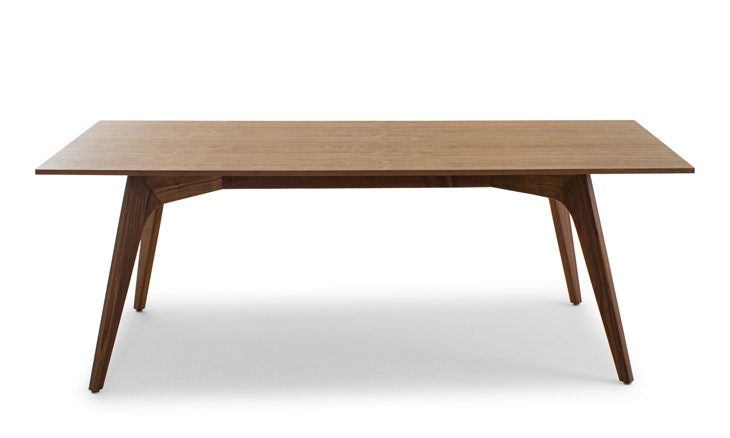 hesse wood top dining table