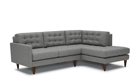apt size sectional sofas grey shop for apartment joybird quick view eliot with bumper