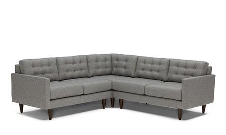 apt size sectional sofas antique brown leather sofa shop for apartment joybird quick view eliot corner