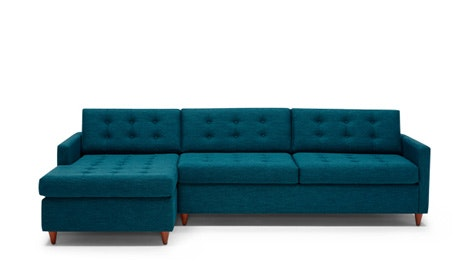 hayden sectional sofa with reversible chaise throw pillow sets sofas sectionals fully customizable joybird quick ship view eliot sleeper
