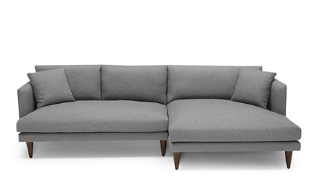 hayden sectional sofa with reversible chaise queen sleepers sofas sectionals fully customizable joybird quick ship view lewis