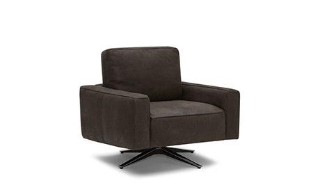 swivel chair inventor circle target mid century modern chairs joybird quick ship view nova leather