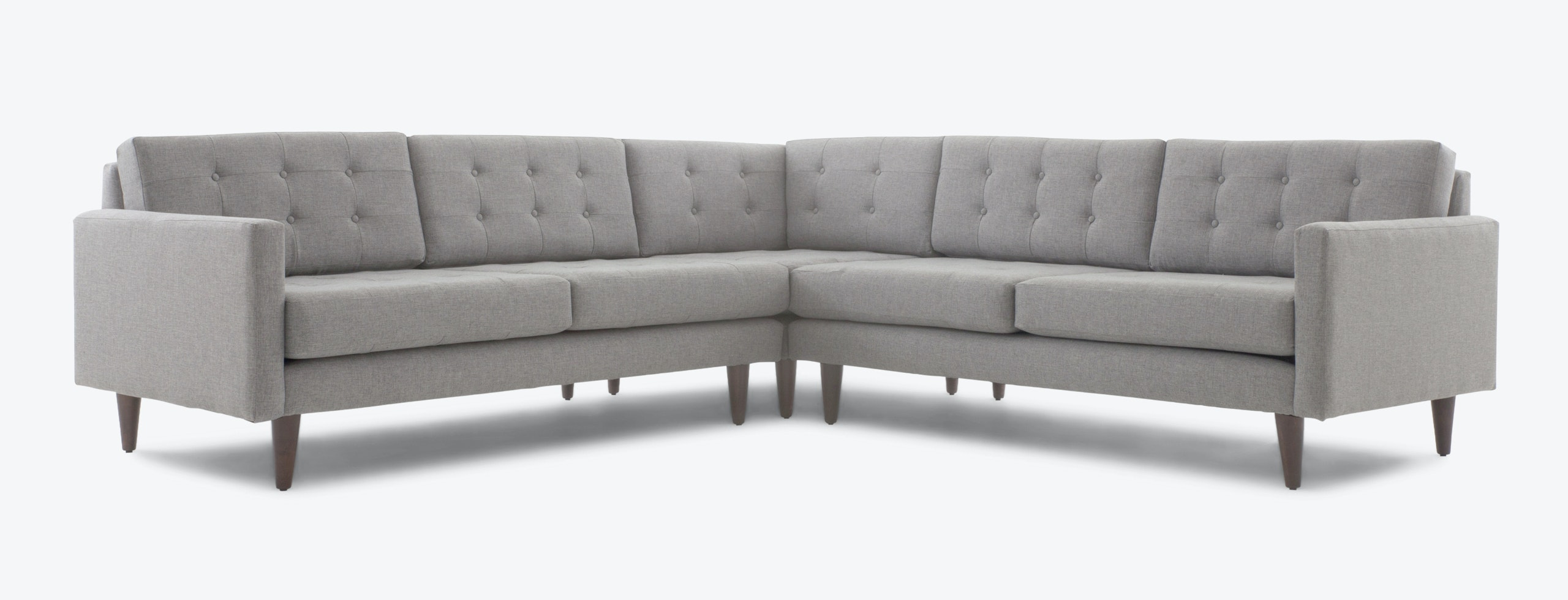elliot fabric sectional living room furniture collection chair sets eliot corner joybird main gallery image