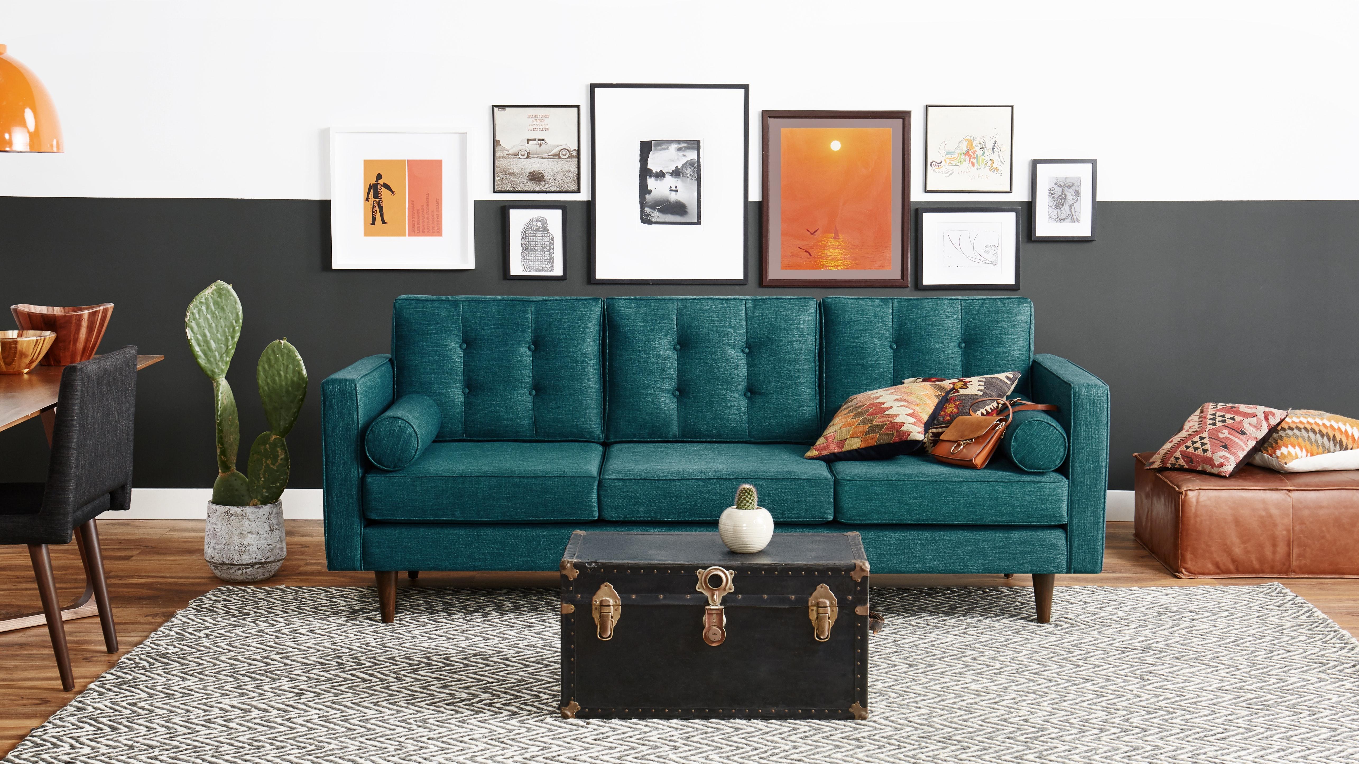cheap teal sofas back sofa table braxton joybird main gallery image