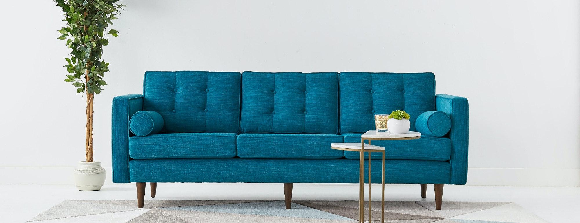 thomasville reclining sofa can u steam clean leather aqua cindy crawford home marcella spa blue ...