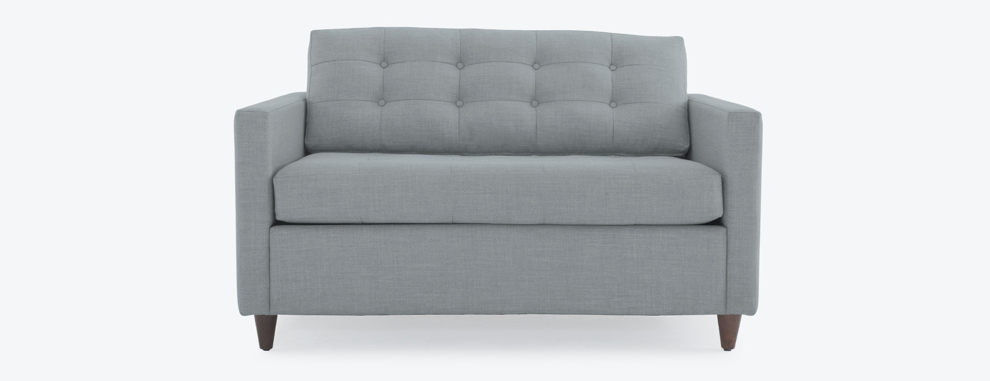 loveseat twin sleeper sofa sofas nyc willow crate and
