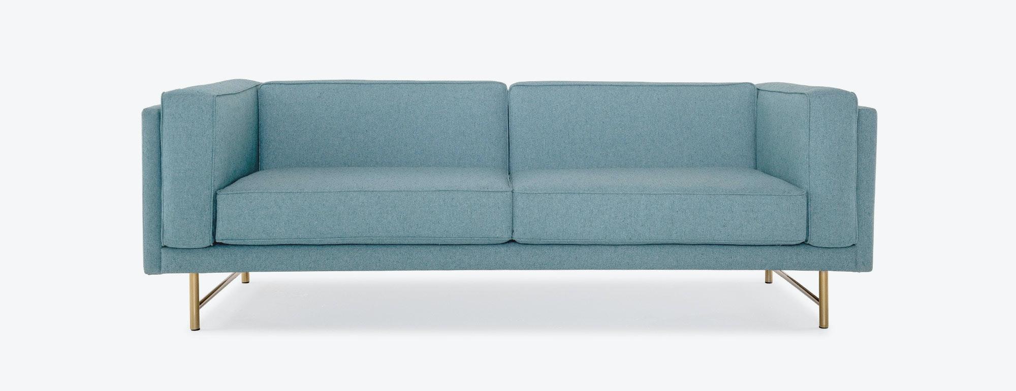 aqua sofa cama juvenil vercelli leather reclining sofas blue