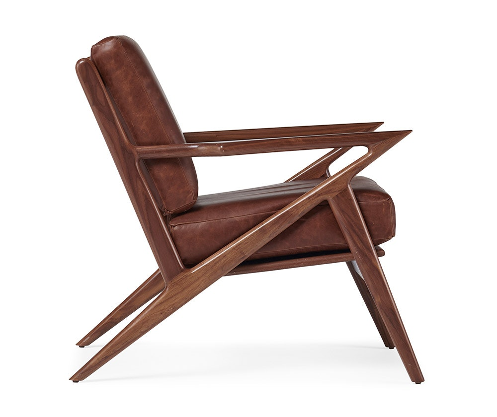 wood and leather chair teak lounge chairs soto joybird mid century meets modern