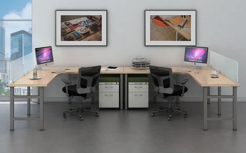 2 Person Collaborative Desk Bench Workstation Joyce Contract