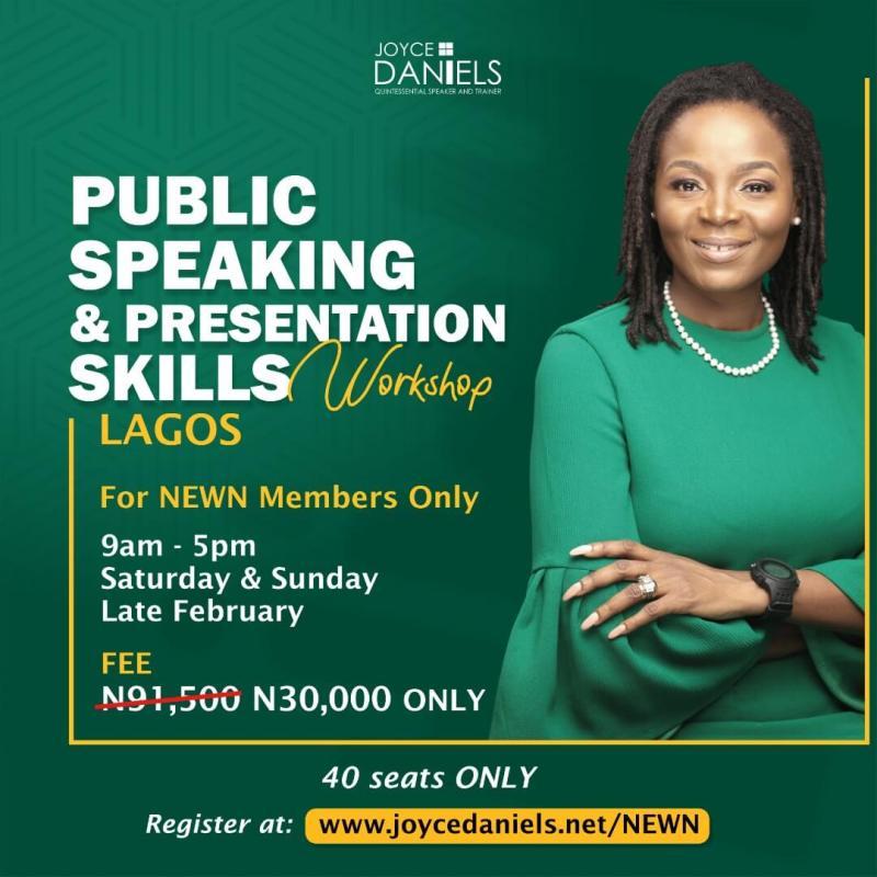 Joyce Daniels Public Speaking Skills