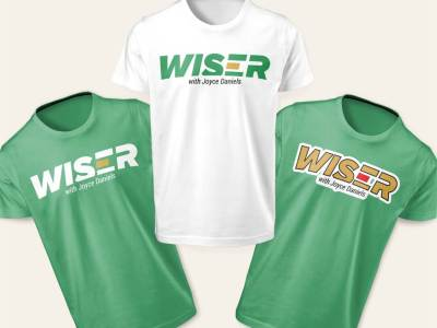 Wiser with Joyce Daniels Tshirt Male