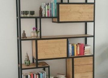 Design Kast Woonkamer : Kast woonkamer hout staal industriële kast met old wood unieke