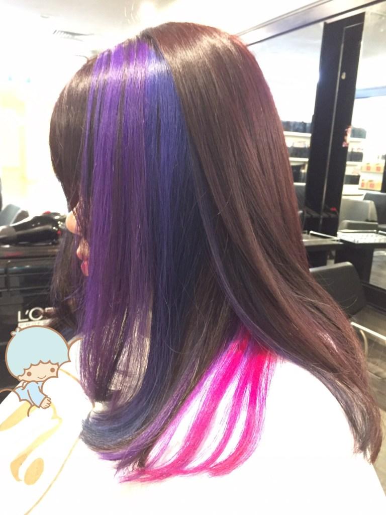 galaxy hair left