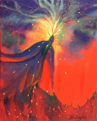 Ble Phoenix by Joyce Huntington