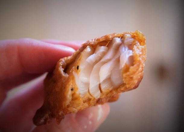 fried cod chunks