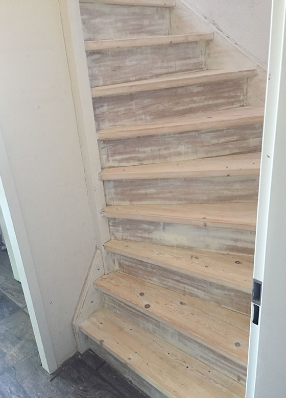 stripped staircase