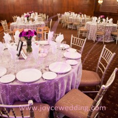 Wedding Chair Covers Reddit Armchair Pillow Banquet Decorations With Lace Overlay Purple