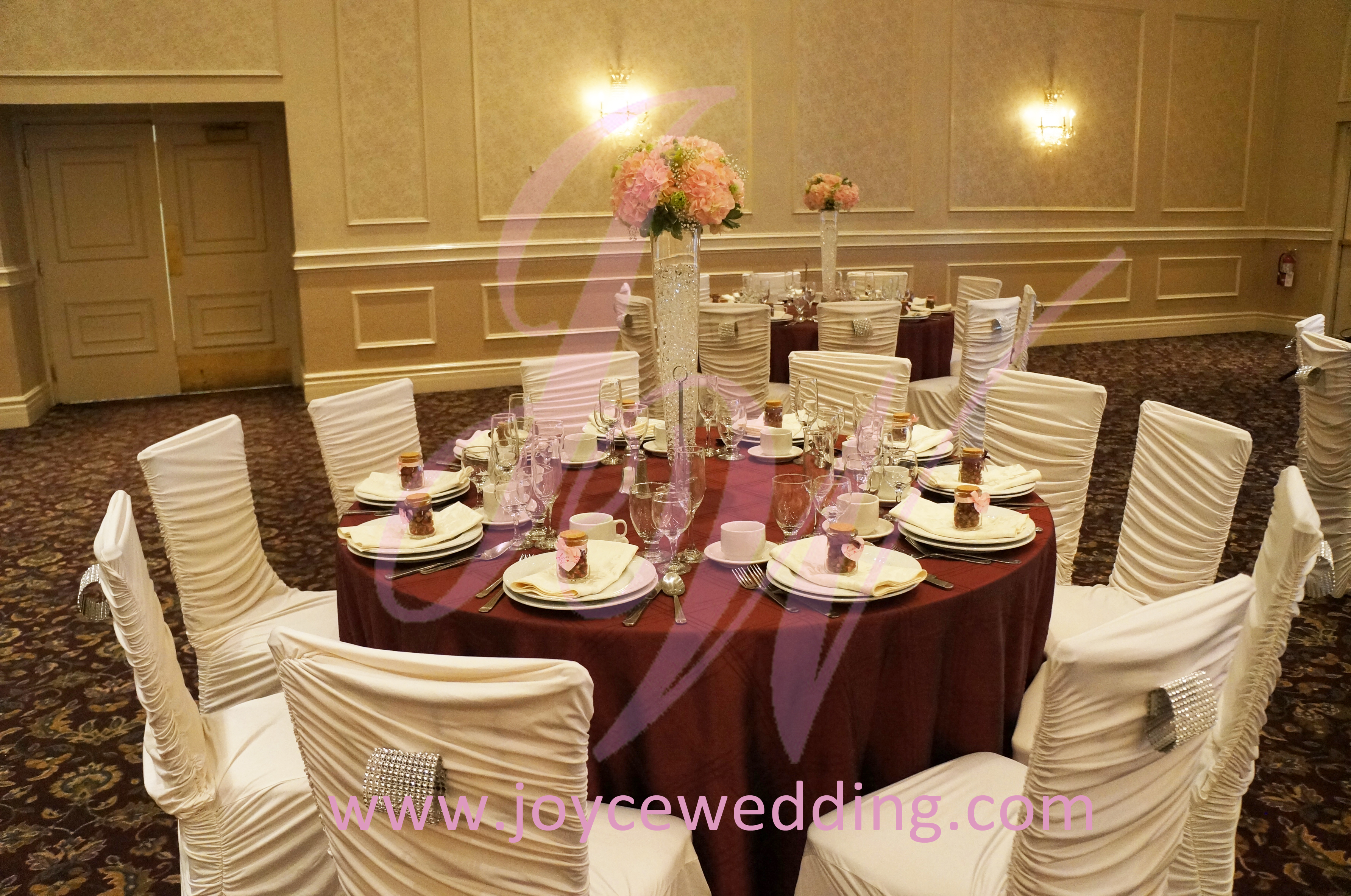 wedding chair covers reddit teak shower chairs benches pink red and white decoration joyce