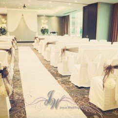 Wedding Chair Covers Reddit Music Studio Weddingdecor Ceremony Chaircovers White Flowerballs