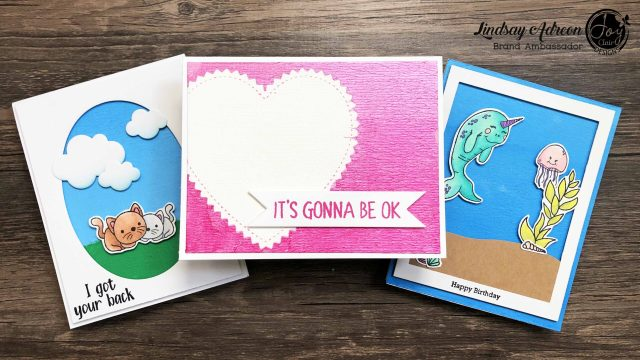 Brayered Background on Handmade Greeting Cards