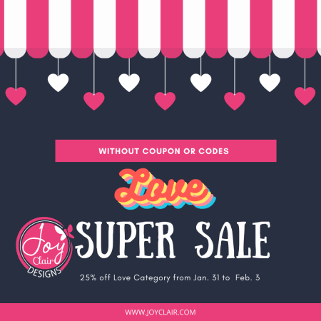 super sale love promotion