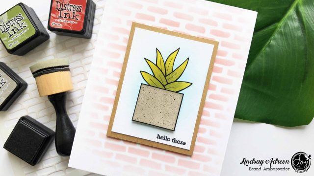 A simple handmade greeting card that is made with digital stamps that have added dimension!