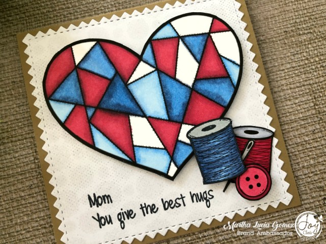 My Heart Stamped Card
