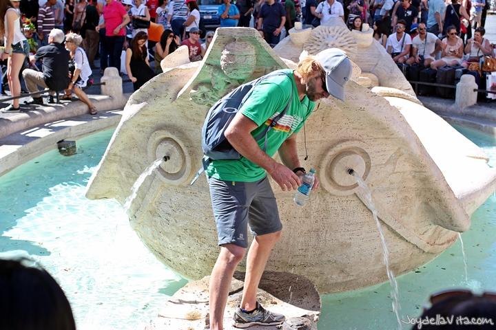 """Brash Tourists"" at the Fontana della Barcaccia (Fountain of the ugly Boat)"