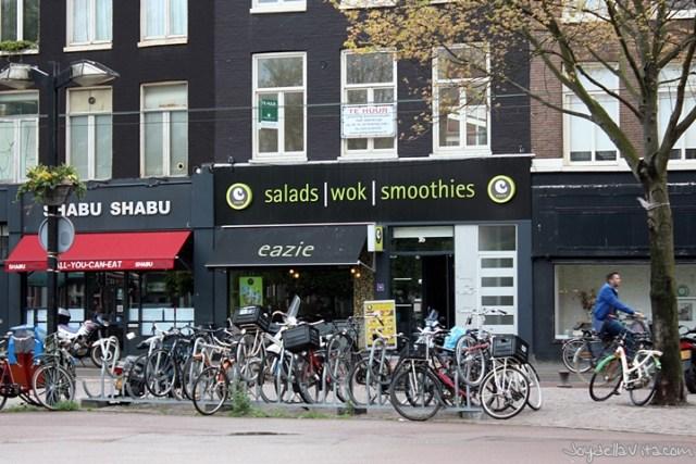 Dinner at eazie in Amsterdam