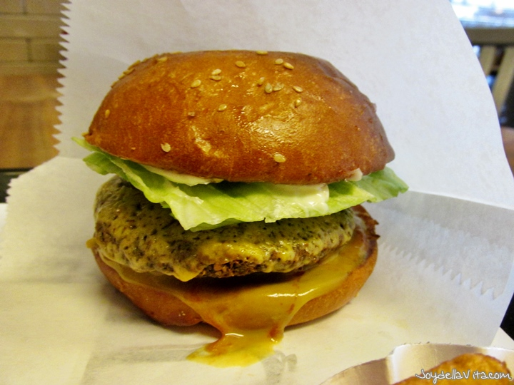 Falafel Burger at Fletcher's Better Burger Frankfurt