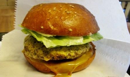 Falafel Burger at Fletcher's Better Burger Frankfurt