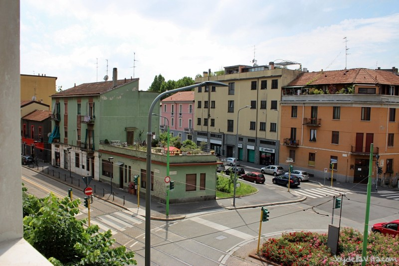 View on the Tramway-station in NIguarda (and almost the bus station)